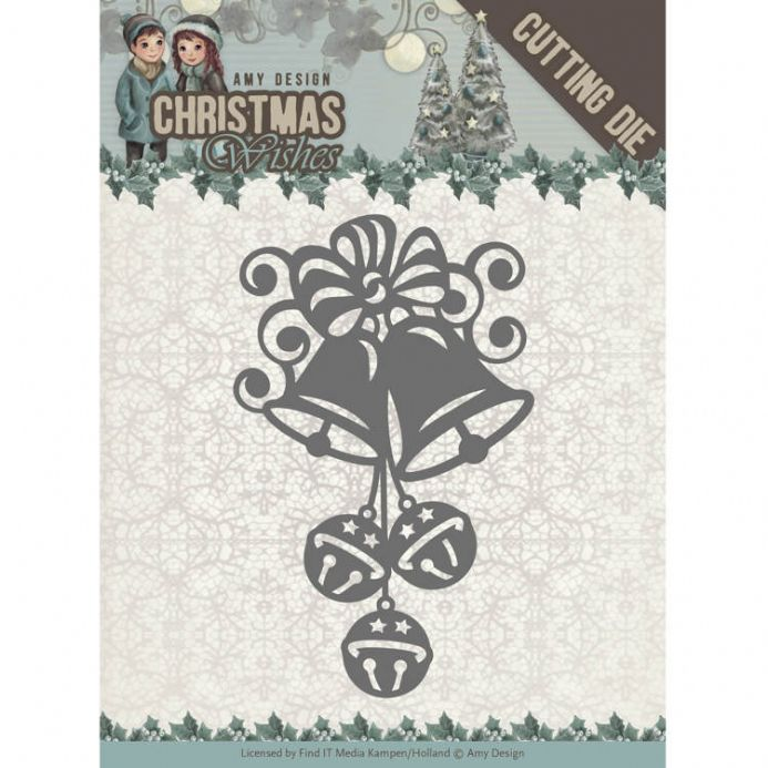 ADD10151 ~ Christmas Bells Die~ Christmas Wishes  ~ Amy Design